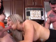TRANSEROTICA Tbabe Chelsea Marie Cums After Riding In 3way