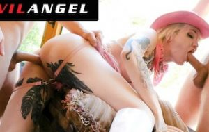 TranssexualAngel – Lena Kelly Double Dicked Down Both Holes