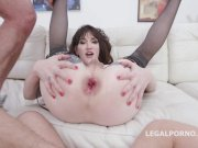 Lena Kelly Double and Triple Anal Penetration in a Hot 5 on 1 Gangbang