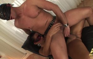 The Tgirl master and the submissive male slave