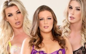 DevilsTGirls She Is DP Destroyed In A Trans-Threesome With Aubrey Kate