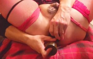 extreme anal play using large open cup