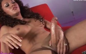 Mia With A Buttplug Making Her Cock Explode With Cum